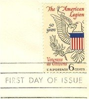 American Legion 6 cent Stamp FDI SC 1369 First Day Issue
