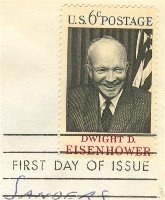 Dwight D Eisenhower 6 cent Stamp FDI SC 1383 First Day Issue