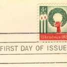 1962 4 cent Christmas Wreath Stamp FDI SC 1205 First Day Issue