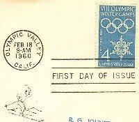 VIII Olympic Winter Games 4 cent Stamp FDI SC 1146 First Day Issue