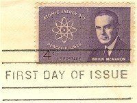Senator Brien McMahon 4 cent Stamp FDI SC 1200 First Day Issue