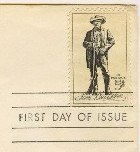 Sam Houston 5 cent Stamp FDI SC 1242 First Day Issue