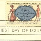 75th Anniversary General Federation of Womens Clubs 5 cent Stamp FDI SC 1316 First Day Issue