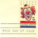 Circus 5 cent Stamp FDI SC 1309 First Day Issue
