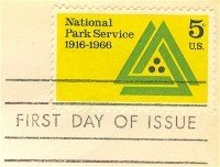 National Park Service Anniversary 5 cent Stamp FDI SC 1314 First Day Issue