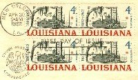 Louisiana 4 cent Stamp Block of 4 FDI SC 1197 First Day Issue