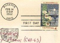Arizona 4 cent Stamp FDI SC 1192 First Day Issue