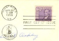 James Monroe Stamp 3 cent FDI SC 1105 First Day Issue