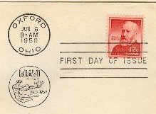 Benjamin Harrison 12 cent Stamp FDI SC 1045 First Day of Issue