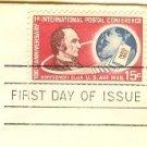 Montgomery Blair Air Mail 15 cent Stamp FDI SC C66 First Day Issue