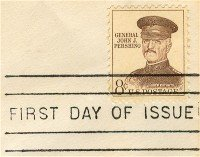 General John J Pershing 8 cent Stamp FDI SC 1042A First Day Issue