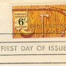Daniel Boone 6 cent Stamp American Folklore Issue FDI SC 1357 First Day Issue