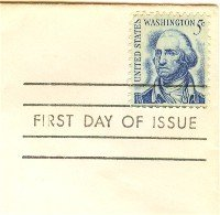 George Washington 5 cent Stamp Prominent Americans Issue FDI SC 1283 First Day Issue