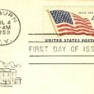 4th of July Flag with 49 States 4 cent Stamp FDI SC 1132 First Day of Issue