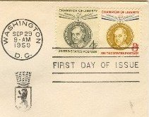 Ernst Reuter 4 and 8 cent stamp Champions of Liberty Issue FDI SC 1136 1137 First Day Issue
