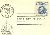 Blue Thomas G Maseryk 4 cent Stamp Champion of Liberty FDI SC 1147 First Day Issue