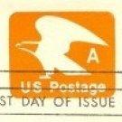 Orange Eagle A Stamped Envelope FDI SC U580 First Day Issue