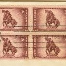 Rough Riders 3 cent Stamp Block of 4 FDI SC 973 First Day of Issue