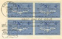 Naval Aviation 4 cent Stamp Block 4 FDI SC 1185 First Day Issue