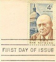 Sam Rayburn 4 cent Stamp FDI SC 1202 First Day Issue