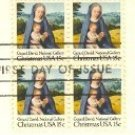 1979 Christmas Stamp15 cent Virgin and Child Stamp Gerard Davis Block 4 FDI SC 1799 First Day Issue