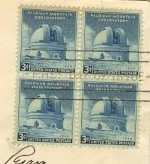 Palomar Mountain Observatory 3 cent Stamp Block of 4 FDI SC 966 First Day of Issue
