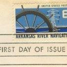 Arkansas River Navigation 6 cent Stamp FDI SC 1358 First Day Issue