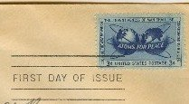 Atoms for Peace 3 cent Stamp FDI SC1070 First Day Issue