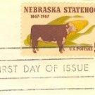 Nebraska Statehood 5 cent Stamp FDI SC 1328 First Day Issue