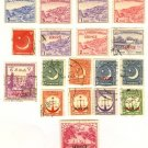 Pakistan 18 stamps