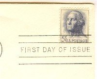 George Washington 5 cent Stamp FDI SC 1213 First Day Issue