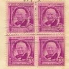 William Allen White 3 cent Stamp Block of 4 FDI SC 960 First Day Issue