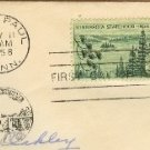 Minnesota Statehood 3 cent Stamp FDI SC 1106 First Day Issue