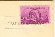 Florida Centennial 3 cent Stamp FDI SC 927 First Day of Issue