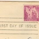 The Alamo 9 cent Stamp FDI SC 1043 First Day Issue