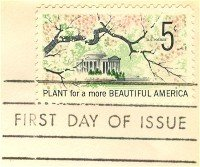 Beautification of America 5 cent Stamp FDI SC 1318 First Day Issue