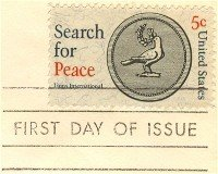 Search for Peace 5 cent Stamp FDI SC 1326 First Day Issue