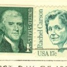 Rachel Carson 17 cent Stamp Great Americans Issue FDI SC 1857 First Day Issue