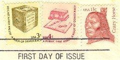 Crazy Horse 13 cent Stamp Great Americans Issue FDI SC 1855 First Day Issue