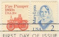 Mary Lyon 2 cent Stamp Great Americans Issue FDI SC 2169 First Day Issue