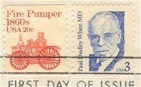 Paul Dudley White MD 3 cent Stamp Great Americans Issue FDI SC 2170 First Day Issue