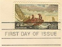 Winslow Homer 4 cent Stamp FDI SC 1207 First Day Issue