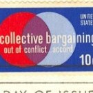 Collective Bargaining 10 cent Stamp FDI SC 1558 First Day Issue