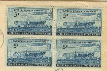 Swedish Pioneer Centennial 5 cent Stamp Block of 4 FDI SC 958 First Day of Issue