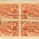 Oregon Territory Centennial 3 cent Stamp Block of 4 FDI SC 964 First Day Issue