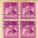 Will Rogers 3 cent Stamp Block of 4 FDI SC 975 First Day Issue