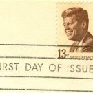 John F Kennedy Stamp 13 cent FDI SC 1287 First Day Issue