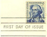 George Washington Coil 5 cent Stamp FDI SC 1304 First Day Issue