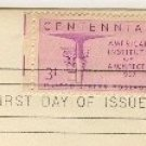 Centennial American Institute of Architects 3 cent Stamp FDI SC 1089 First Day Issue