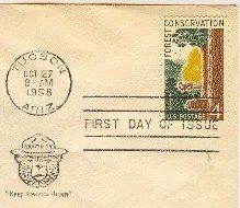 Forest Conservation 4 cent Stamp Keep America Green FDI SC 1122 First Day Issue